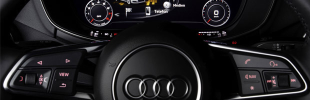 Bang & Olufsen Sound System with Symphoria in the Audi TT. Operated via the Audi virtual cockpit. ©AUDI AG
