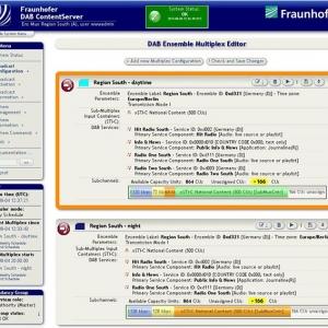 DAB ContentServer GUI | ©Fraunhofer IIS