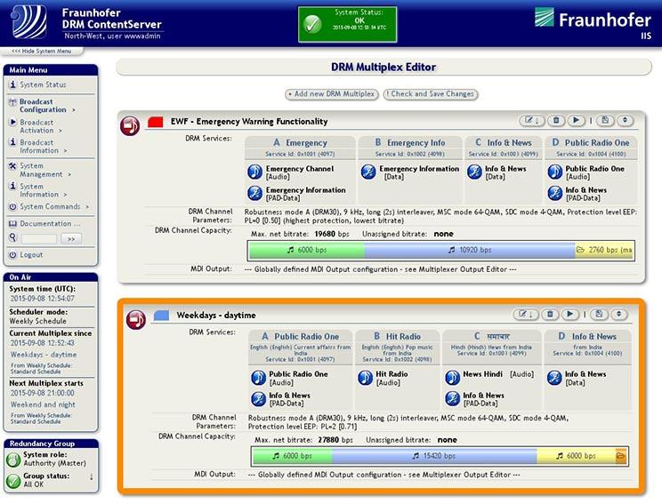DRM ContentServer GUI | ©Fraunhofer IIS
