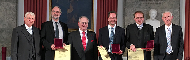 Recipients of the Eduard Rhein Technology Award 2015, ©Fraunhofer IIS