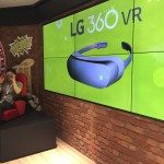 Presentation of the LG 360 VR at the LG booth