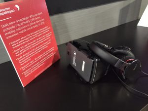 Die MPEG-H VR Demo am Qualcomm-Stand