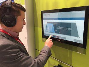 Zusätzlich zur Live-Demo konnten Besucher des Fraunhofer Standes die hervorragende Audioqualität von EVS in einer Offline-Demo vergleichen.