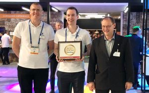 "Ericsson won the ""Best of Show"" Award at NAB 2018 for their MPEG-H Audio Contribution Encoder/Decoder. Photo © Fraunhofer IIS"
