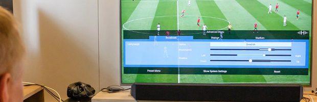 "MPEG-H and soundbar demonstration in the NRK ""living room"" © Fraunhofer IIS"