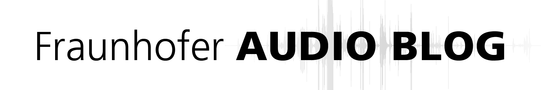 Fraunhofer Audio Blog